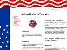 Making Movies in Your Mind Lesson Plan