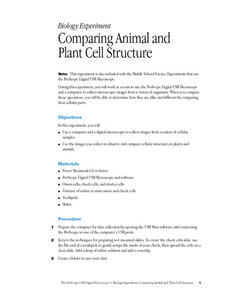 Comparing Animal and Plant Cell Structure Lesson Plan