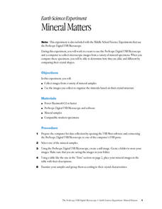 Mineral Matters Lesson Plan