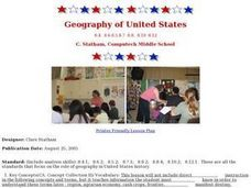 Geography of United States Lesson Plan