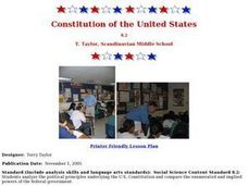 Constitution of the United States Lesson Plan