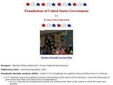 Foundations of United States Government Lesson Plan