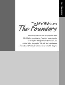 The Bill of Rights and the Founders Lesson Plan