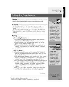 Fishing for Compliments Lesson Plan