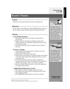 Reader's Theatre Lesson Plan