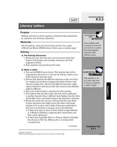 Literary Letters Lesson Plan