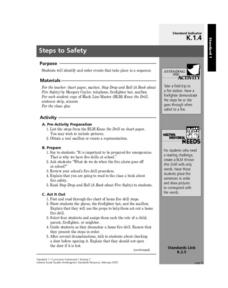 Steps to Safety Lesson Plan