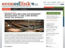Market Failures and Government Regulation: Is the Cure Worse than the Disease? Lesson Plan