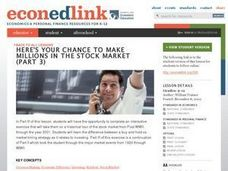 Here's Your Chance to Make Millions in the Stock Market - Part 3 Lesson Plan