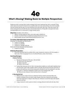 What's Missing? Making Room for Multiple Perspectives Lesson Plan