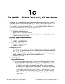 The World in 22 Minutes: Constructing a TV News Lineup Lesson Plan