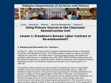 Freedmen's Bureau: Labor Contract or Re-enslavement? Lesson Plan
