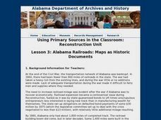 Alabama Railroads: Maps as Historic Documents Lesson Plan