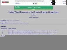 Using Word Processing to Create Graphic Organizers Lesson Plan