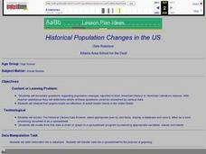 Historical Population Changes in the US Lesson Plan