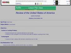 Review of the United States of America Lesson Plan