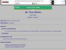 My Three Wishes Lesson Plan