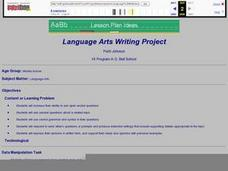 Language Arts Writing Project Lesson Plan