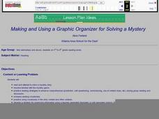Making and Using a Graphic Organizer for Solving a Mystery Lesson Plan