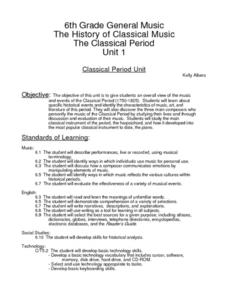 The Classical Period Lesson Plan