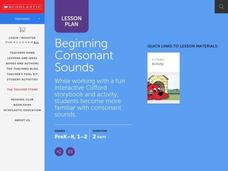 Beginning Consonant Sounds Lesson Plan