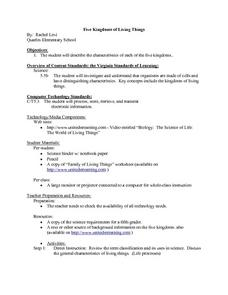 Five Kingdoms of Living Things Lesson Plan