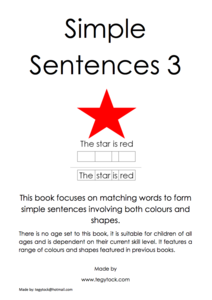 Simple Sentences Printables & Template