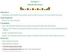 Watch Me Grow Lesson Plan