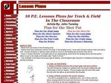 Plan For The Pole Vault Lesson Plan