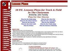 Plan For The Short Sprints Lesson Plan