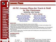 10 P.E. Lesson Plans for Track and Field Lesson Plan