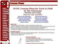 10 P.E. lesson plans for track and field - Hurdles Lesson Plan