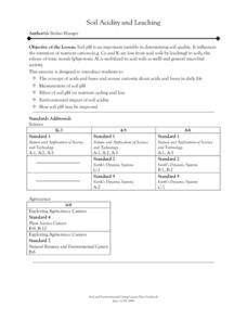 Soil Acidity and Leaching Lesson Plan