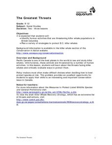 The Greatest Threats Lesson Plan