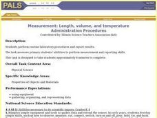 Measurement: Length, volume, and temperature Lesson Plan