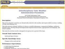 Interdisciplinary Task: Weather Lesson Plan