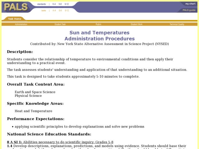 Sun and Temperatures Lesson Plan
