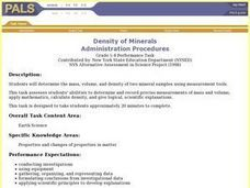 Density of Minerals Lesson Plan