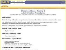 Starch and Sugar Testing 2 Lesson Plan