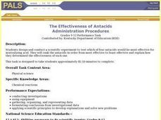 The effectiveness of Antacids Lesson Plan