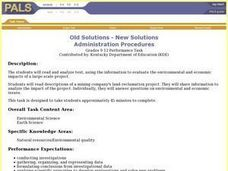 Old Solutions - New Solutions Lesson Plan