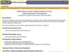 The Best Place in the United States to Live Lesson Plan