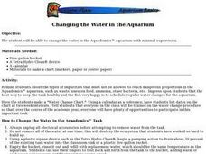 Changing the Water in the Aquarium Lesson Plan