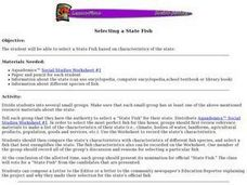 Selecting a State Fish Lesson Plan