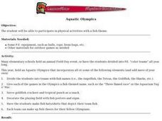 Aquatic Olympics Lesson Plan