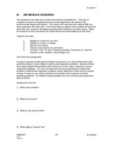#1 Air Module Scenario Lesson Plan