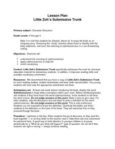 Little Zoh's Submissive Trunk Lesson Plan