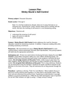 Stinky Skunk's Self-Control Lesson Plan