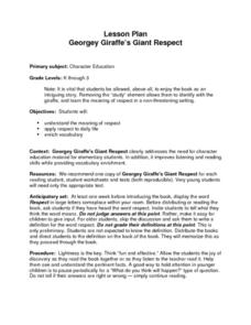 Georgey Giraffe's Giant Respect Lesson Plan
