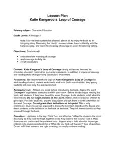Katie Kangaroo's Leap of Courage Lesson Plan